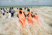 Womens festival at Udappuwa. The first festival after the Sinhala Tamil New year, in the hot month of April or May. They dance in groups around a shrine at night and the next morning. On the Wednesday* morning, they all converge on the beach, carrying with them pots with seedlings and end the celebration with an offering to the sea. An adaptation of a harvest & rain festival, at this fishing community the prayer is for a better catch from the sea. .*The festival is always on a Tuesday evening and Wednesday morning.