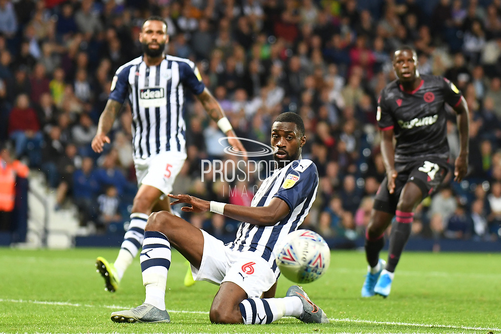West Bromwich Albion defender Semi Ajayi (6) on defensive duties during the EFL Sky Bet Championship match between West Bromwich Albion and Reading at The Hawthorns, West Bromwich, England on 21 August 2019.