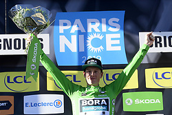 March 15, 2019 - Brignoles, France - BRIGNOLES, FRANCE - MARCH 15 : BENNETT Sam (IRL) of BORA - HANSGROHE pictured with the green jersey during stage 6 of the 2019 Paris - Nice cycling race with start in Peynier and finish in Brignoles  (176,5 km) on March 15, 2019 in Brignoles, France, 15/03/2019 (Credit Image: © Panoramic via ZUMA Press)