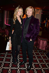 NICKY CLARKE and KELLY SIMPKIN at a party to celebrate the publication of 'Passion for Life' by Joan Collins held at No41 The Westbury Hotel, Mayfair, London on21st October 2013.