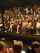 Skin, Stella McCartney, Kristin Davis,  Fran Cutler, 'Black' fashion show  given by Alexander McQueen and American Express. Earl's court. 3 June 2004. ONE TIME USE ONLY - DO NOT ARCHIVE  © Copyright Photograph by Dafydd Jones 66 Stockwell Park Rd. London SW9 0DA Tel 020 7733 0108 www.dafjones.com