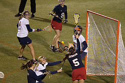 Virginia Cavaliers GK Kendall McBrearty (4)<br /> <br /> The Virginia Cavaliers Women's Lacrosse team defeated the Richmond Spiders 13-5 at Kl?ckner Stadium in Charlottesville, VA on February 28, 2007.