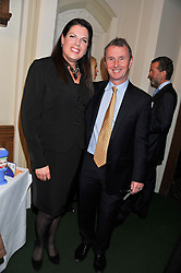 CAROLINE NOKES MP and NIGEL EVANS MP Deputy Speaker House of Commons at a reception for The Mirela Fund in partnership with Hope and Homes for Children hosted by Natalie Pinkham in The Churchill Room, House of Commons, London on 30th April 2013.