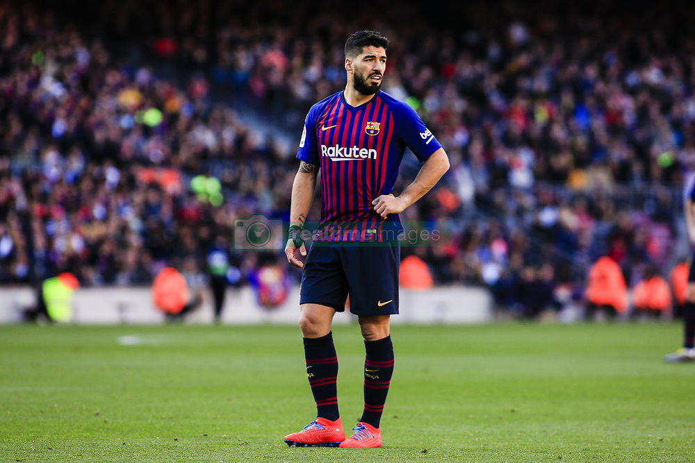 March 30, 2019 - Barcelona, Catalonia, Spain - 09 Luis Suarez of FC Barcelona during the ''Derby'' of La Liga match between FC Barcelona and RCD Espanyol in Camp Nou Stadium in Barcelona 30 of March of 2019, Spain. (Credit Image: © Xavier Bonilla/NurPhoto via ZUMA Press)