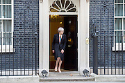 Theresa May, Prime Minister welcomes His Highness Sheikh Mohamed bin Zayed Al Nahyan, Crown Prince of Abu Dhabi to Downing Street. <br /> 10 Downing Street, London, Great Britain <br /> 23rd February 2017 <br /> <br /> Theresa May <br /> <br /> <br /> <br /> <br /> Photograph by Elliott Franks <br /> Image licensed to Elliott Franks Photography Services