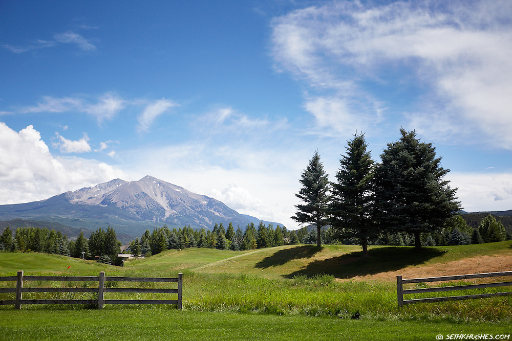 A view of Mt. Sopris from Carbondale, Colorado.