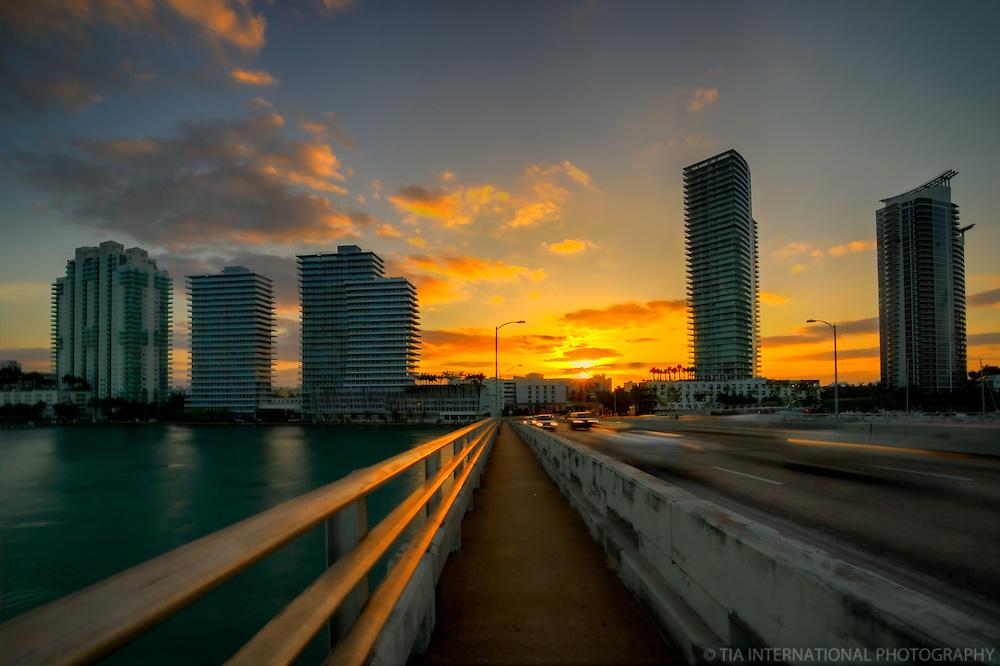 Miami Beach from Interstate 395 (Sunrise)