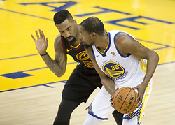 May 31, 2018 - Oakland, California, U.S - Kevin Durant #35 of the Golden State Warriors looks to pass  the ball during their NBA Championship Game 1 with the  Cleveland Cavaliers at Oracle Arena in Oakland, California  on Thursday,  May 31, 2018. (Credit Image: © Prensa Internacional via ZUMA Wire)