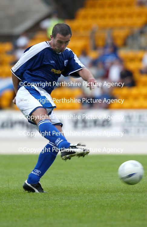 St Johnstone v Hamilton Accies..31.07.04  Bell's Cup<br />David Hannah<br /><br />Picture by Graeme Hart.<br />Copyright Perthshire Picture Agency<br />Tel: 01738 623350  Mobile: 07990 594431