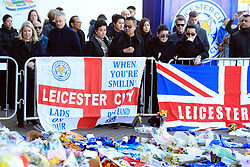 Aiyawatt Srivaddhanaprabha with family members at Leicester City Football Club, Leicester Chairman Vichai Srivaddhanaprabha, was among those to have tragically lost their lives on Saturday evening when a helicopter carrying him and four other people crashed outside King Power Stadium.