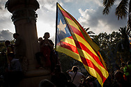 Hundreds of Catalans flags were exposed.