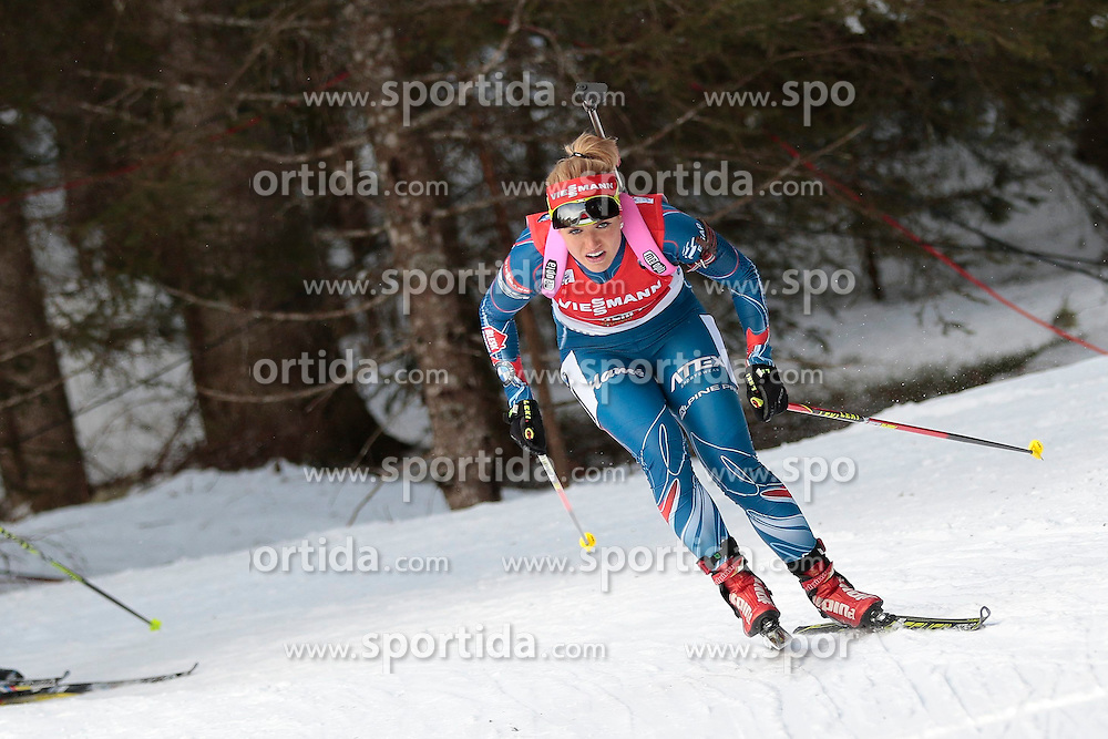 25.01.2015, Suedtirol Arena, Antholz, ITA, IBU Weltcup Biathlon, Antholz, Staffel Damen, im Bild Gabriela Soukalova (CZE) // during the Womens Relay of IBU Biathlon World Cup at the Suedtirol Arena in Antholz, Italy on 2015/01/25. EXPA Pictures © 2015, PhotoCredit: EXPA/ Federico Modica