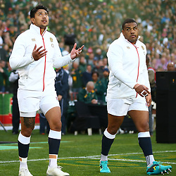 Denny Solomona with Kyle Sinckler of England during the 2018 Castle Lager Incoming Series 1st Test match between South Africa and England at Emirates Airline Park,<br /> Johannesburg.South Africa. 09,06,2018 Photo by (Steve Haag Sports)