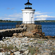 Portland Breakwater Light also called Bug Light, South Portland, Maine, USA