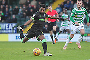 Forest Green Rovers Reece Brown(10) during the EFL Sky Bet League 2 match between Yeovil Town and Forest Green Rovers at Huish Park, Yeovil, England on 8 December 2018.