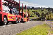 Car transporter, SH2 Manawatu, New Zealand