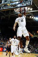 November 24th, 2013:  Colorado Buffaloes freshman guard/forward Tre'Shaun Fletcher (10) makes a reverse shot in the first half of action in the NCAA Basketball game between the Harvard Crimson and the University of Colorado Buffaloes at the Coors Events Center in Boulder, Colorado
