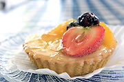 A Fruit Tart at the Edom Bakery in Edom, Texas on Tuesday August 13, 2008. Photo By Tom Turner