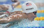 BEIJING, CHINA:  USA's swimmer Kathleen Hersey , ROSWELL,GA swims  in  200-meter butterfly on Tuesday,8/12/08 in Beijing, China.  ©2008 Johnny Crawford
