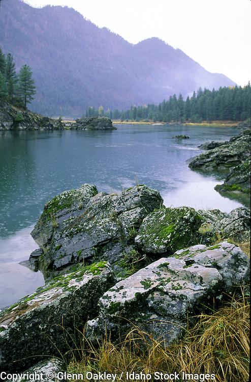 Rainy day, Clark Fork River, Montana