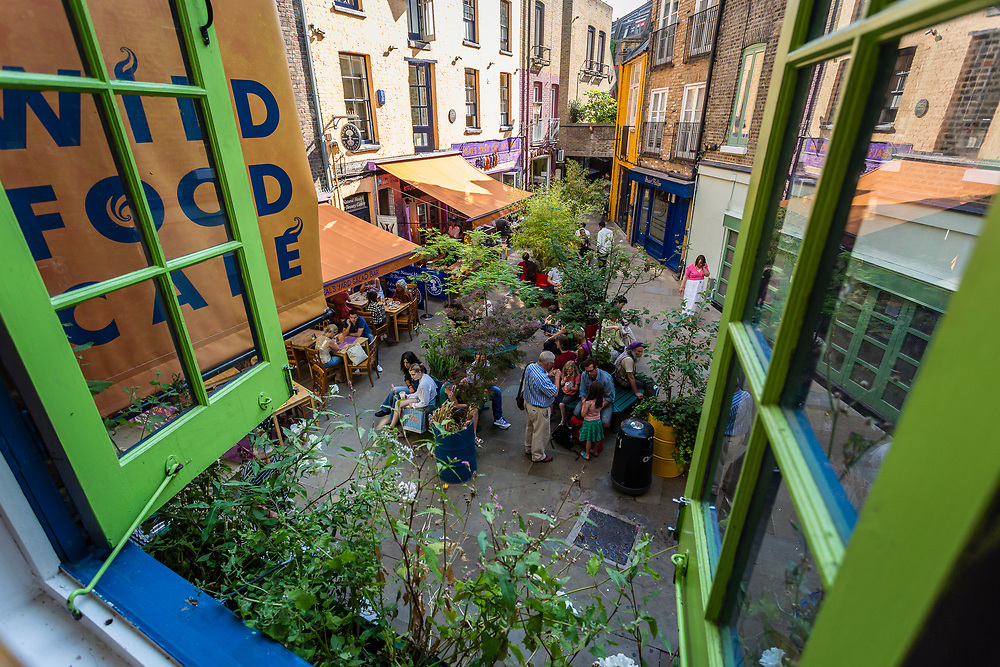 Neal's Yard seen from the window of one of the many bars