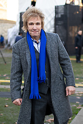 © Licensed to London News Pictures. 13/12/2018. London, UK. Founder of Pimlico Plumbers, and Anti-Brexit campaigner Charlie Mullins seen in College Green. Yesterday, British Prime Minister Theresa May won the backing of her party to stay on as Prime Minister, following a vote of no confidence, after she postponed the vote on her EU withdrawal deal. Photo credit : Tom Nicholson/LNP