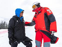 14.02.2020, Zwölferkogel, Saalbach Hinterglemm, AUT, FIS Weltcup Ski Alpin, Super G, Herren, im Bild Markus Waldner (FIS Chef Renndirektor Weltcup Ski Alpin Herren), Andreas Puelacher (Sportlicher Leiter ÖSV Ski Alpin Herren) // Markus Waldner Chief Race Director World Cup Ski Alpin Men of FIS Andreas Puelacher Austrian Ski Association head Coach alpine Men's before the men's SuperG of FIS Ski Alpine World Cup at the Zwölferkogel in Saalbach Hinterglemm, Austria on 2020/02/14. EXPA Pictures © 2020, PhotoCredit: EXPA/ Johann Groder