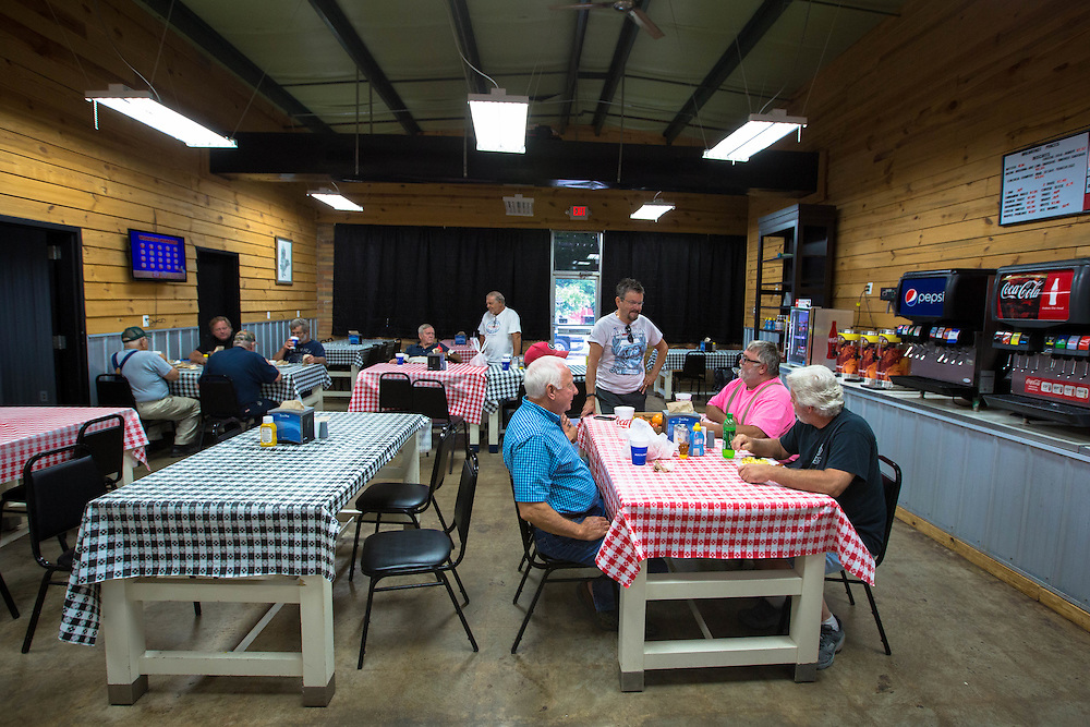Patrons at Kimball's General Store in Buchanan, Ga. eat breakfast there on Thursday, July 2, 2015. Shot for a story about changes occurring in the South following a heightened national awareness and sensitivity concerning the Confederate battle flag. Photo by Kevin Liles for The New York Times