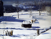 George Wesley Bellows, American (Ashcan School) Painter, 1882-1925.'Blue Snow, the Battery' 1910