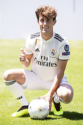 July 18, 2018 - Madrid, Spain - Alvaro Odriozola during his presentation as new Real Madrid player at Santiago Bernabéu Stadium in Madrid, Spain. July 18, 2018. (Credit Image: © Coolmedia/NurPhoto via ZUMA Press)