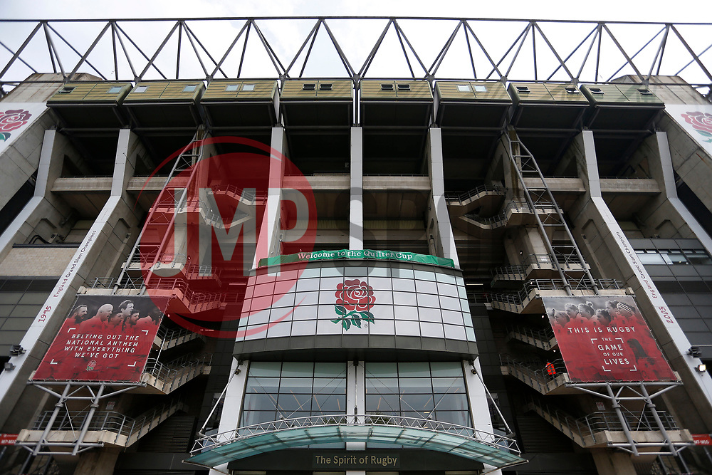 A general view of Twickenham and the England Rugby branding - Mandatory by-line: Ryan Hiscott/JMP - 27/05/2018 - RUGBY - Twickenham Stadium - London, England - England v Barbarians - Quilter Cup