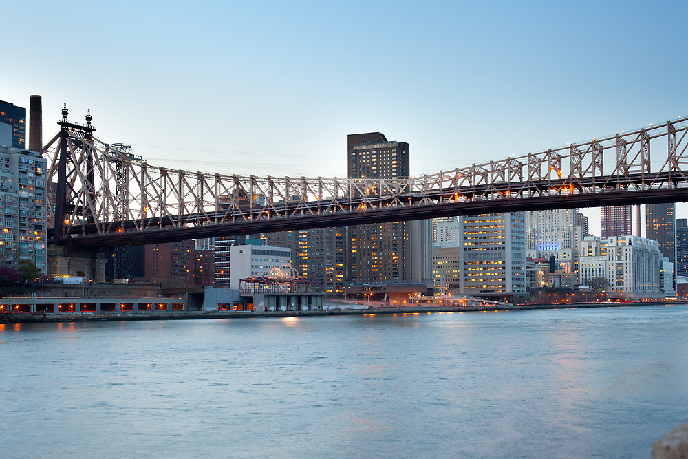 Queensboro Bridge over the East River and Upper East Side, Manhattan, New York City, NY, USA