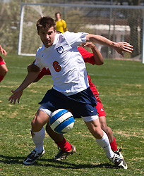 Virginia Cavaliers forward Chase Neinken (6).  The North Carolina State Wolfpack defeated the Virginia Cavaliers 1-0 in NCAA Men's Soccer during a spring scrimmage at the Klockner Stadium practice field on the Grounds of the University of Virginia in Charlottesville, VA on April 4, 2009.