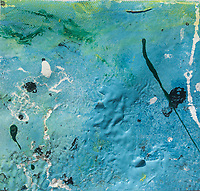 photo abstract canvas painting close-up: brush strokes and texture