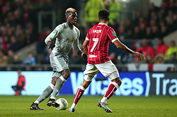 Paul Pogba of Manchester United takes on Korey Smith of Bristol City - Mandatory by-line: Robbie Stephenson/JMP - 20/12/2017 - FOOTBALL - Ashton Gate Stadium - Bristol, England - Bristol City v Manchester United - Carabao Cup Quarter Final