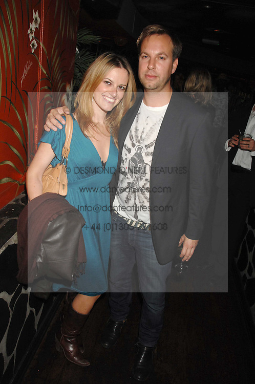 GAVIN MYALL and SILVIA PINI at a party to celebrate the launch of Independent (Formerly ICM) held at Mahiki, 1 Dover Street, London W1 on 17th September 2007.<br /><br />NON EXCLUSIVE - WORLD RIGHTS