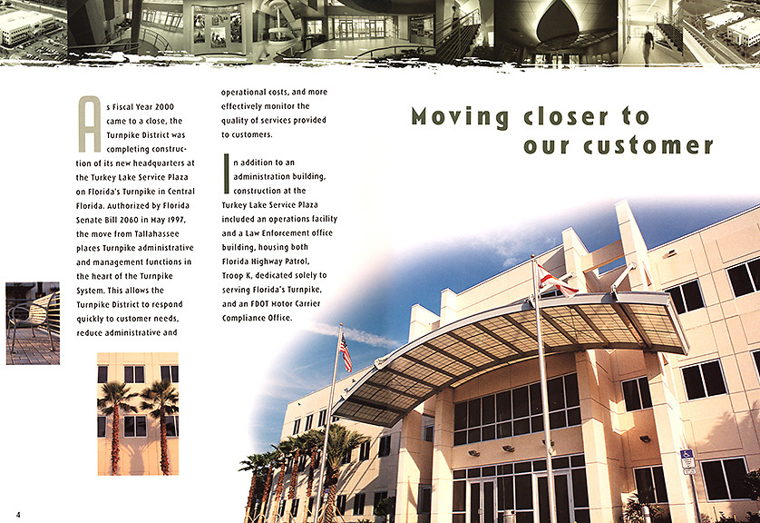 Florida Turnpike annual report inside pages