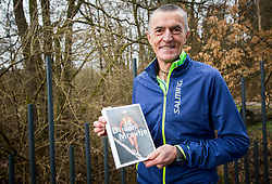 Dusan Mravlje s svojo knjigo kot gost na pripravah na Ljubljanski maraton 2018, on March 31, 2018 in Ljubljana, Slovenia. Photo by Vid Ponikvar / Sportida