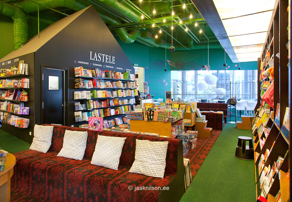 reading room in bookstore