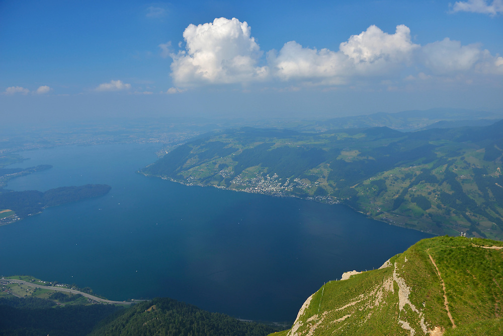View to lake Zug, on top of Mount Rigi,Switzerland,North-Eastern Swiss Alps, Europe