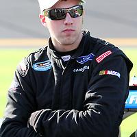 Nationwide driver J.R. Fitzpatrick at Daytona International Speedway on February 18, 2011 in Daytona Beach, Florida. (AP Photo/Alex Menendez)
