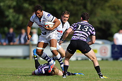 Bristol Flanker (#6) Marco Mama in action - Photo mandatory by-line: Rogan Thomson/JMP - Tel: Mobile: 07966 386802 01/09/2013 - SPORT - RUGBY UNION - Station Road, Cribbs Causeway, Bristol - Clifton RFC v Bristol Rugby - Pre Season Friendly.