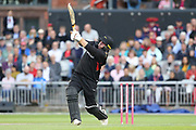 Leicestershire Foxes Mark Cosgrove  during the Vitality T20 Blast North Group match between Lancashire Lightning and Leicestershire Foxes at the Emirates, Old Trafford, Manchester, United Kingdom on 30 August 2019.