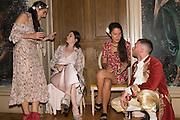 CELESTINE COONEY; SONIA MELOT; SARAH PEARSON; RHYS JONES, Bella Howard 30th birthday, Castle Howard, Dress code: Flower Fairies and Prince Charming, 3 September 2016