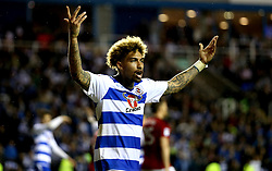 Daniel Williams of Reading celebrates the win over Fulham in the Championship Playoff Semi-Final - Mandatory by-line: Robbie Stephenson/JMP - 16/05/2017 - FOOTBALL - Madejski Stadium - Reading, England - Reading v Fulham - Sky Bet Championship Play-off Semi-Final 2nd Leg