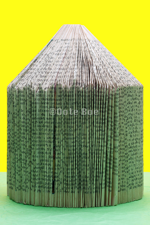 cone form abstrraction with folded book