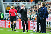 Newcastle United manager Steve Bruce shouts instructions from the side line during the The FA Cup match between Newcastle United and Oxford United at St. James's Park, Newcastle, England on 25 January 2020.