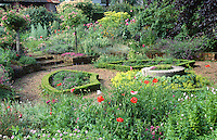 herb knot garden with box hedging