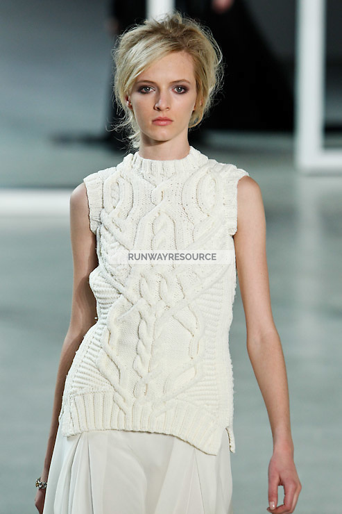 Daria Strokous walks down runway for F2012 Derek Lam's collection in Mercedes Benz fashion week in New York on Feb 10, 2012 NYC