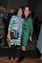 Left to right, DANIELLA ISSA HELAYEL and LADY RUDDOCK at a private view of the V&A's exhibition Golden Spider Silk held at the Victoria & Albert museum, London on 24t January 2012.